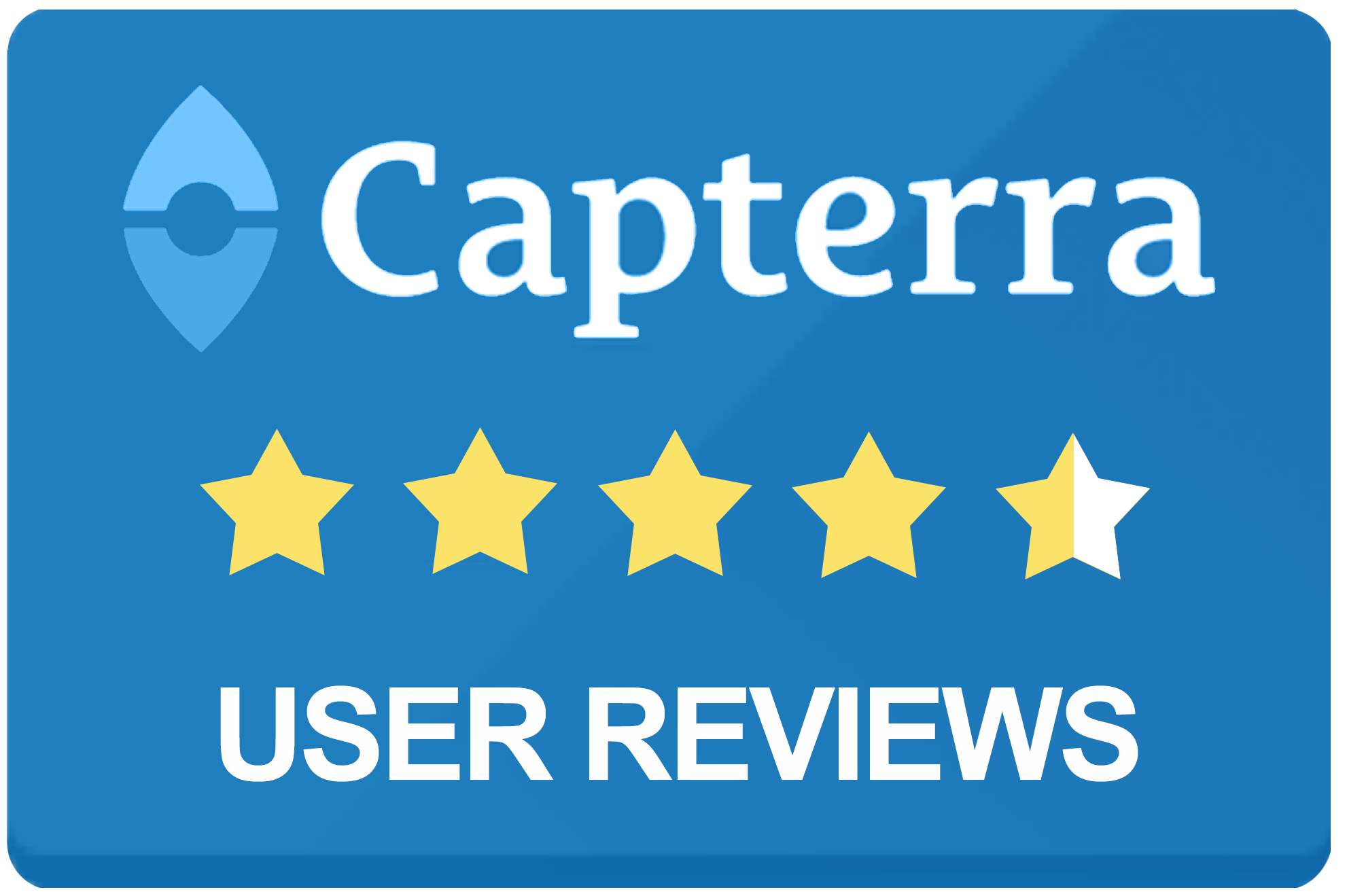 Capterra score is four and a half out of five stars.